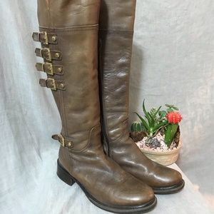 Napoleoni Italy Tall Brown Boots 5.5/36 GUC